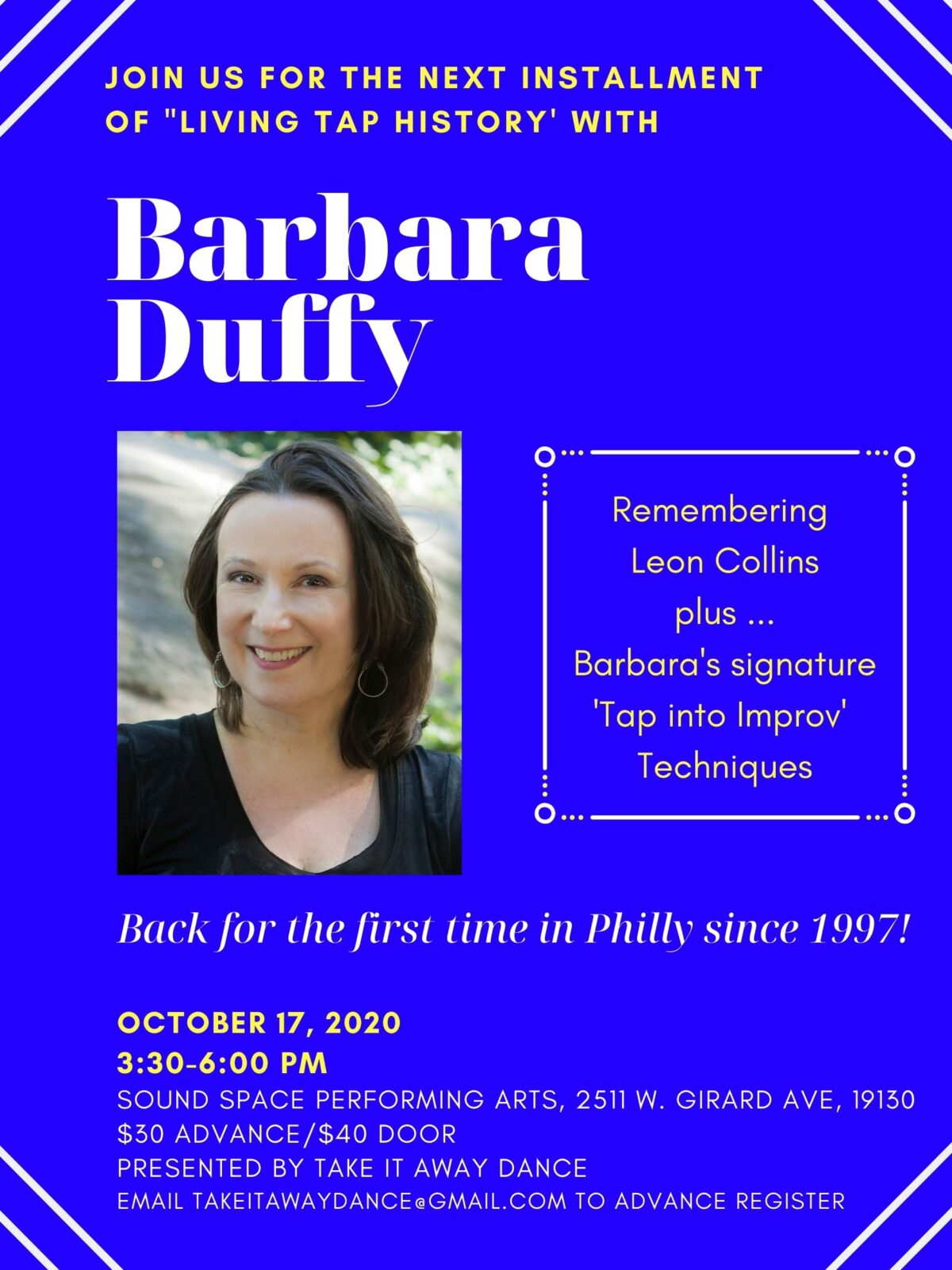Sound Space – Living Tap History: Barbara Duffy